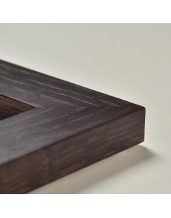 Cadre en chêne marron (4 cm)