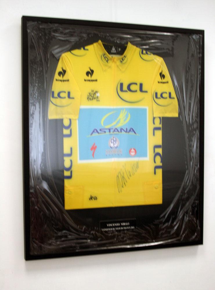 Cadre maillot jaune vélo